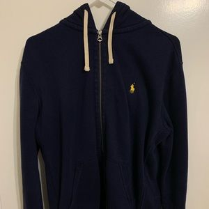 Polo Ralph Lauren Zip Up Hoodie Navy Medium